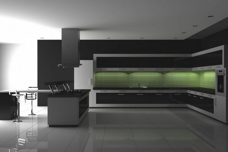 Чорна плитка в інтер'єрі: 90 фото прикладів використання в дизайні сучасного інтер'єру