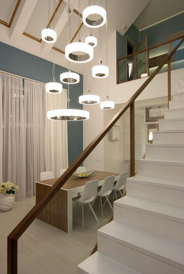 Дизайн дворівневої квартири: планування, оформлення, нюанси (59 фото)